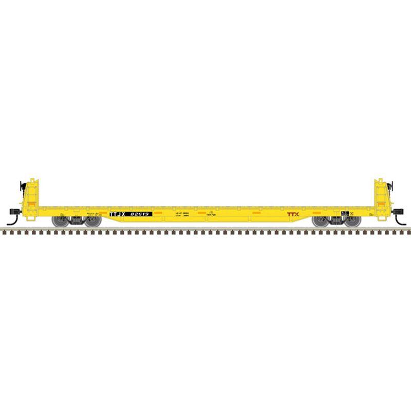 O Flat Car 3 Rail TTX 80282, 82619