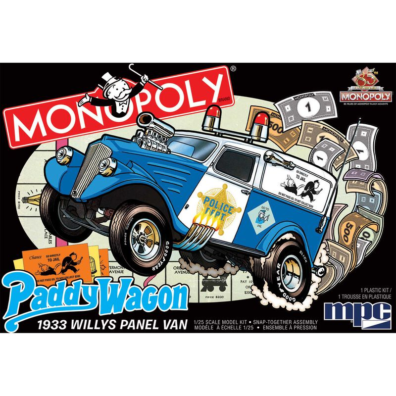 1 25 1933 Willys Panel Paddy Wagon (Monopoly)