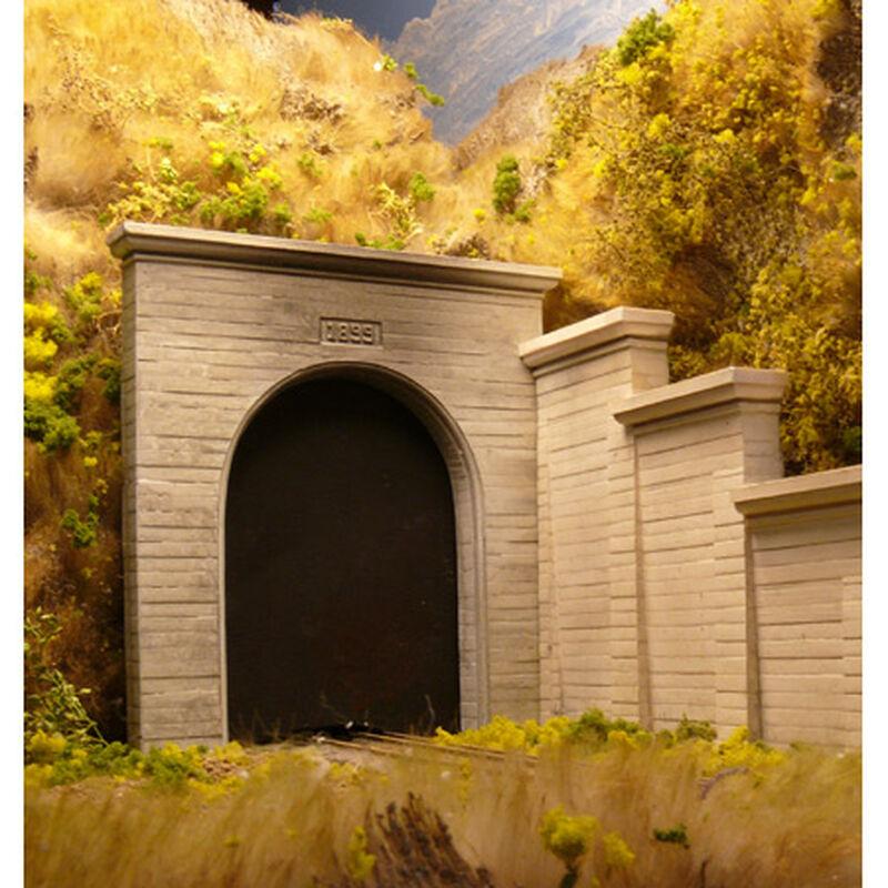 HO Single Concrete Tunnel Portal