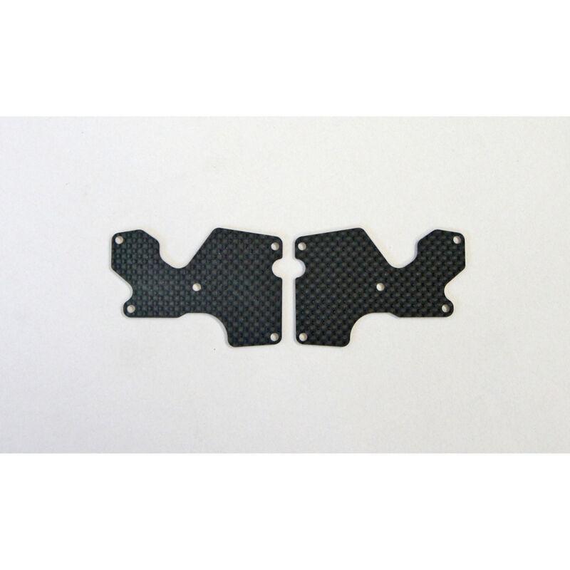 Graphite 1.2mm Rear Lower Suspension Arm Mount Plate (2): X8