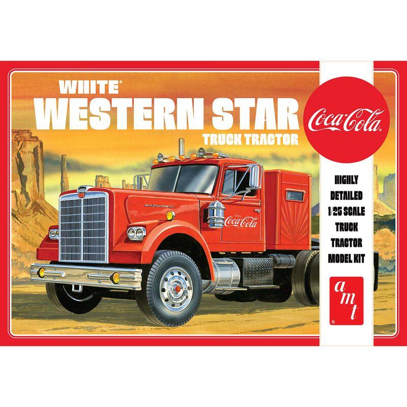 1/25 White Western Star Semi Tractor Coca-Cola