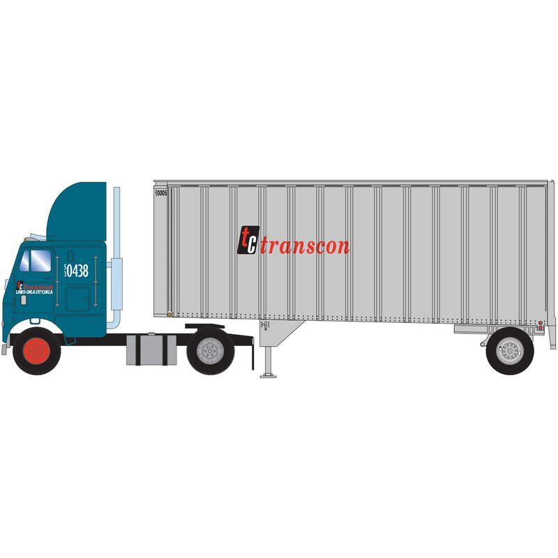 HO RTR FL-2 Axle with 28' Trailer Transcon