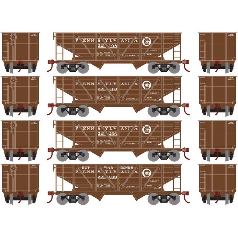 HO 34' 2-Bay Hopper with Coal Load PRR War Bonds#3(4)
