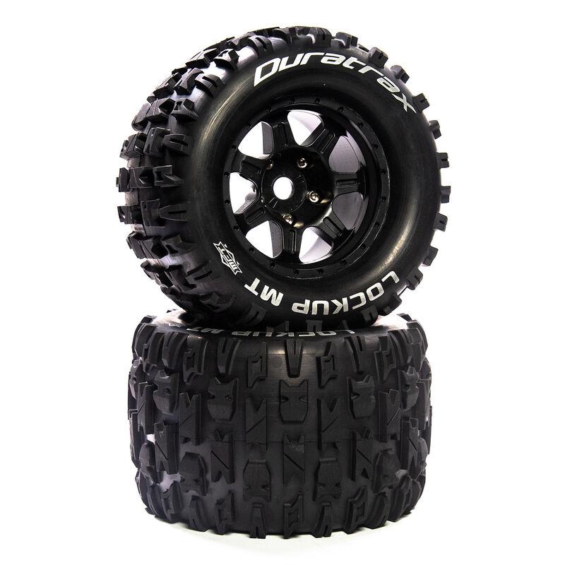 """Lockup MT Belt 3.8"""" Mounted Front/Rear Tires .5 Offset 17mm, Black (2)"""