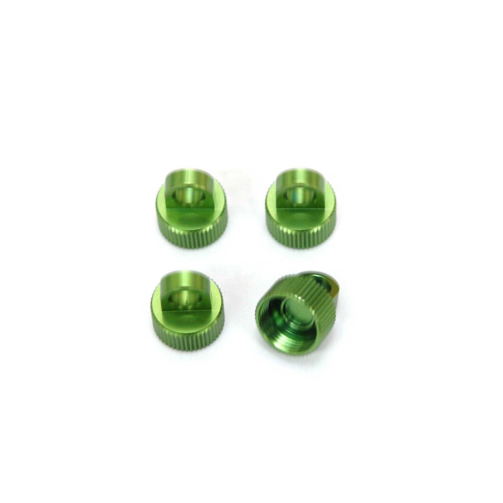 CNC Mach Alum Shock Caps    Wraith (4) Green
