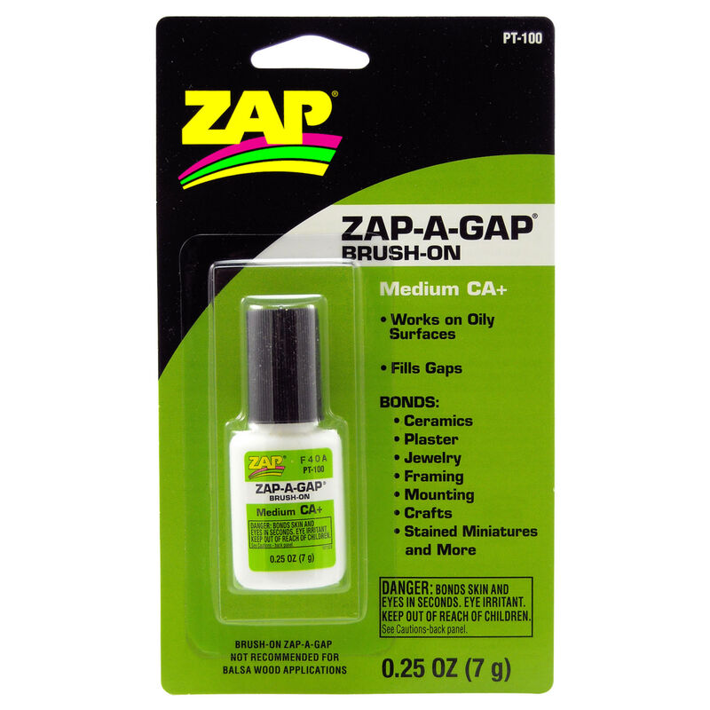 Zap-A-Gap Brush-On Medium CA+, .25 oz, Carded