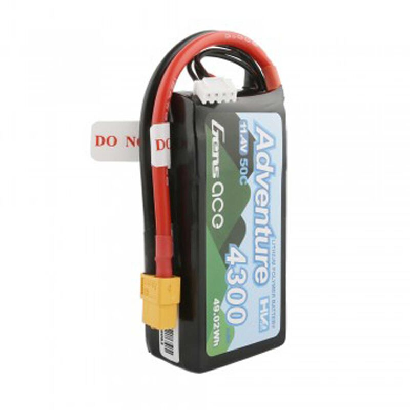 11.1V 4300 Capacity 3S Voltage 50C Rate XT60
