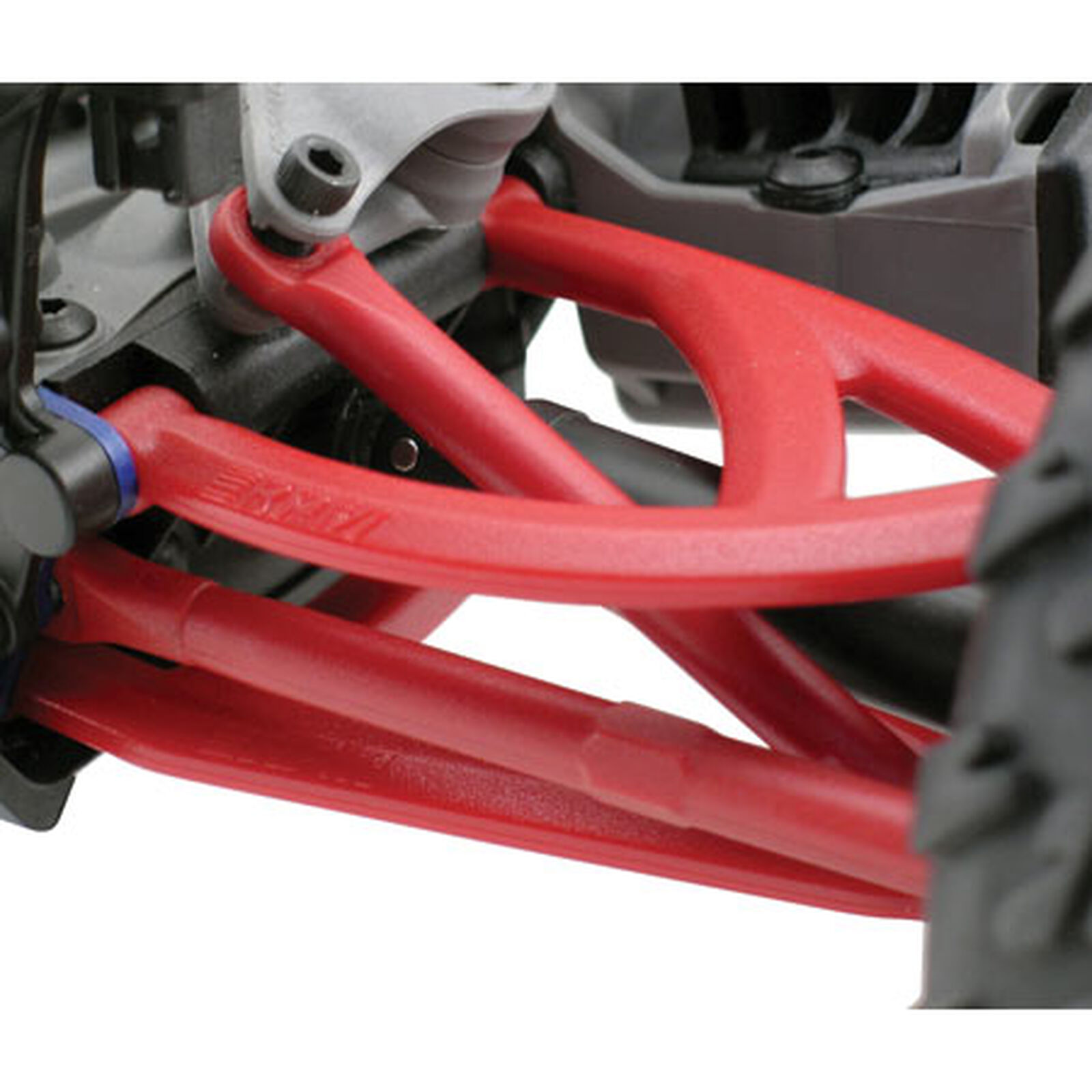 Rear Upper/Lower A-Arms, Red: 1/16 ERV