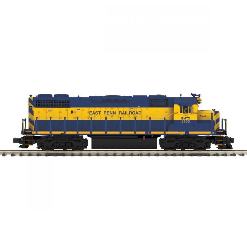 O-27 GP38-2 with PS3 Hi-Rail East Penn Railroad#2800