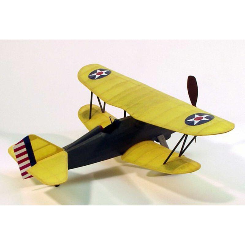 "Curtiss P6E Hawk Rubber Powered Kit, 17.5"""