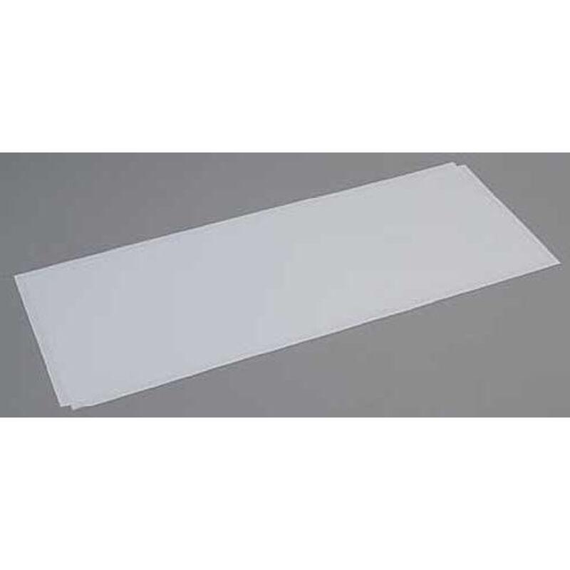 White Sheet .080 x 8 x 21 (2)