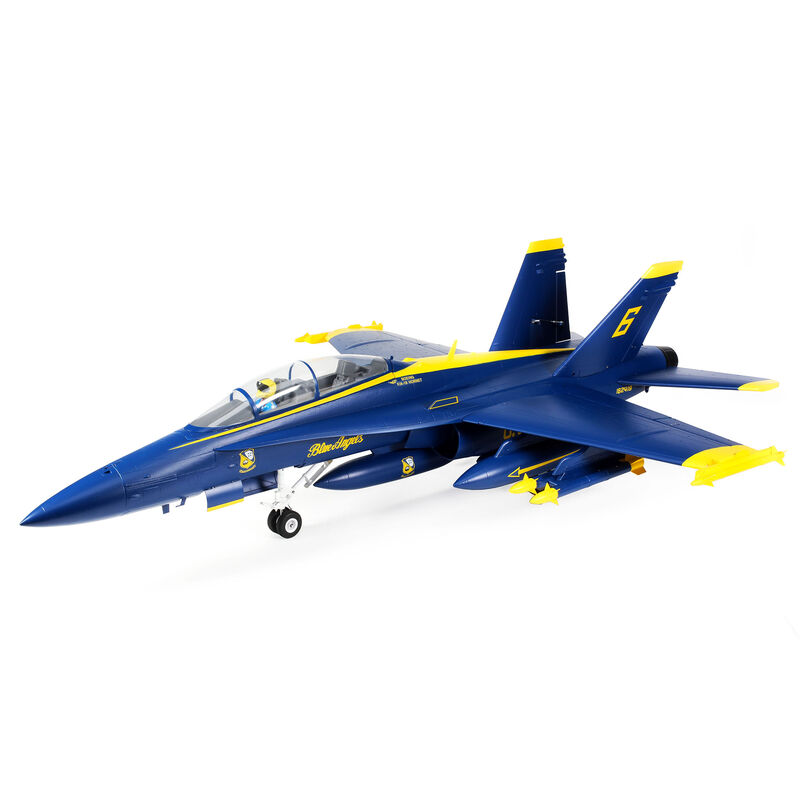 F-18 Blue Angels 80mm EDF BNF Basic with AS3X and SAFE Select, 980mm