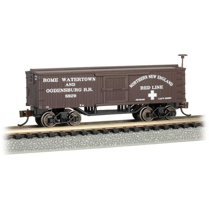 N Scale Old Time Box Car Rome Watertown Ogdensburg
