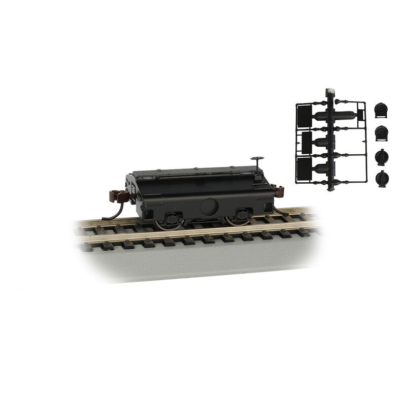 HO Test Weight Car Undecorated Black