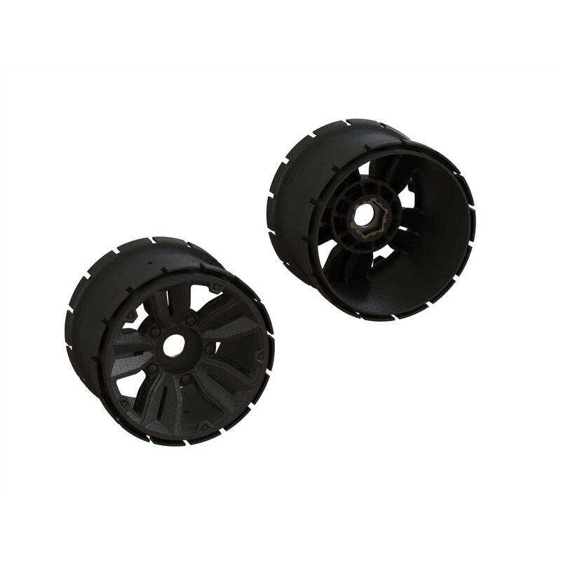 1/5-1/6 Front/Rear Monster Truck 4.9 Pre-Mounted Tires, 24mm Hex (2)