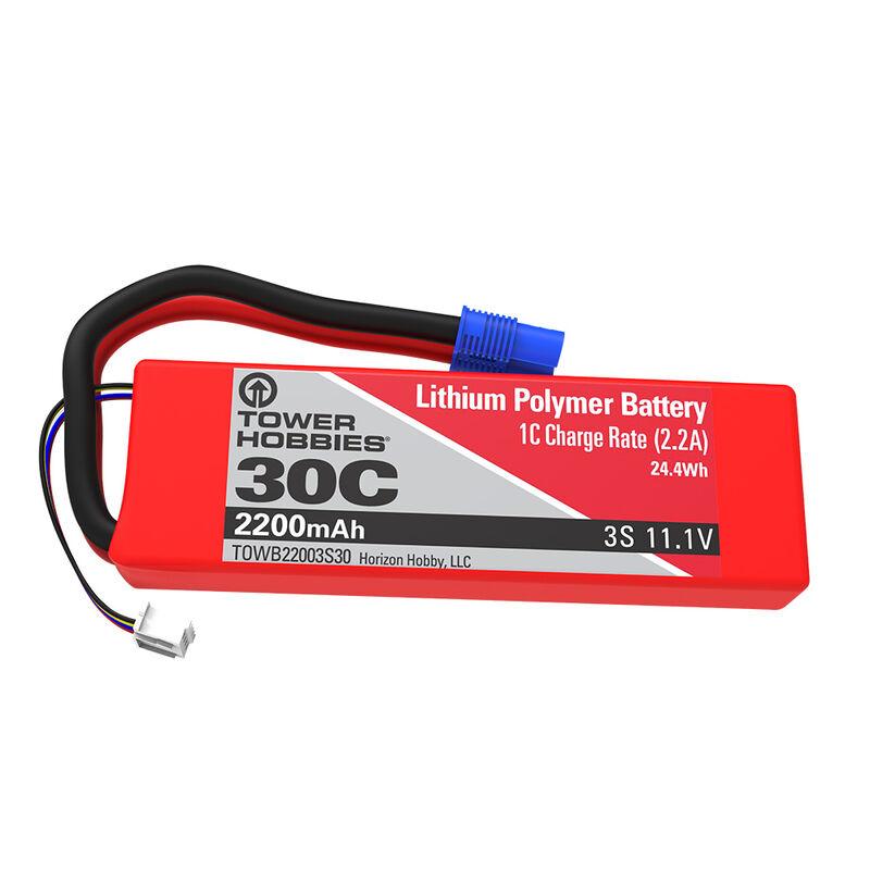 11.1V 2200mAh 3S 30C LiPo: EC3