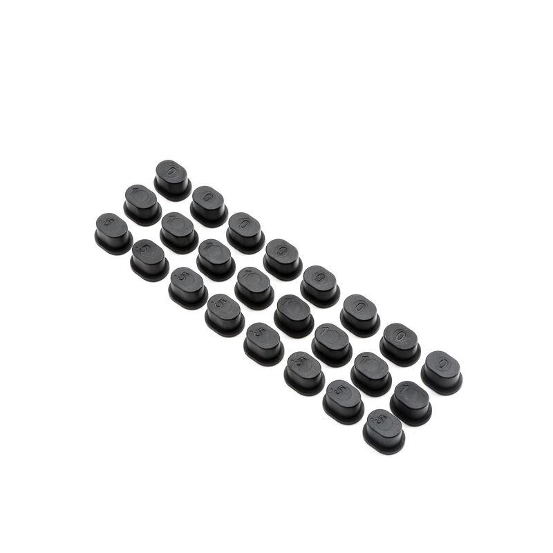 Adjustable Hinge Pin Brace Inserts: 5IVE B, 5T, MINI WRC