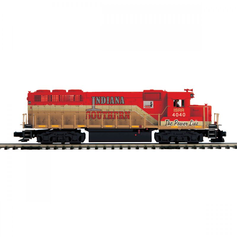 O-27 GP40 with PS3 Hi-Rail Indiana Southern #4040