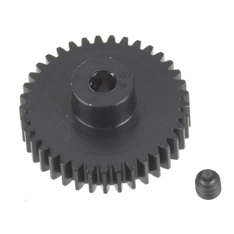 48P Hard Coated Aluminum Pinion Gear, 37T