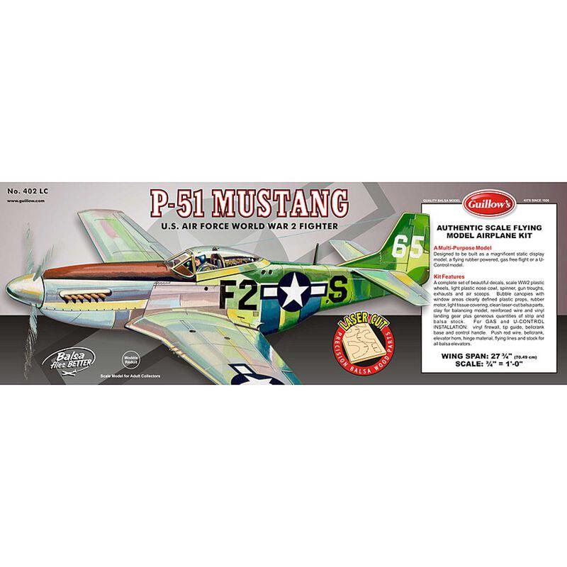 """P-51 Mustang Laser Cut Kit, 27.5"""""""