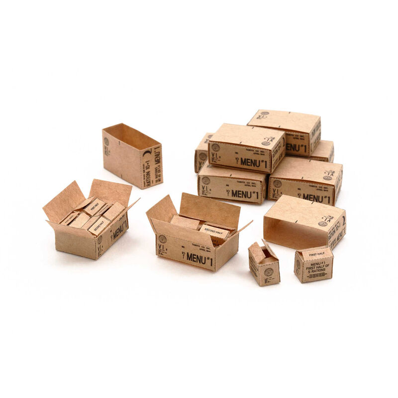 1/35 U.S. 10-in-1 Ration Cartons WWII