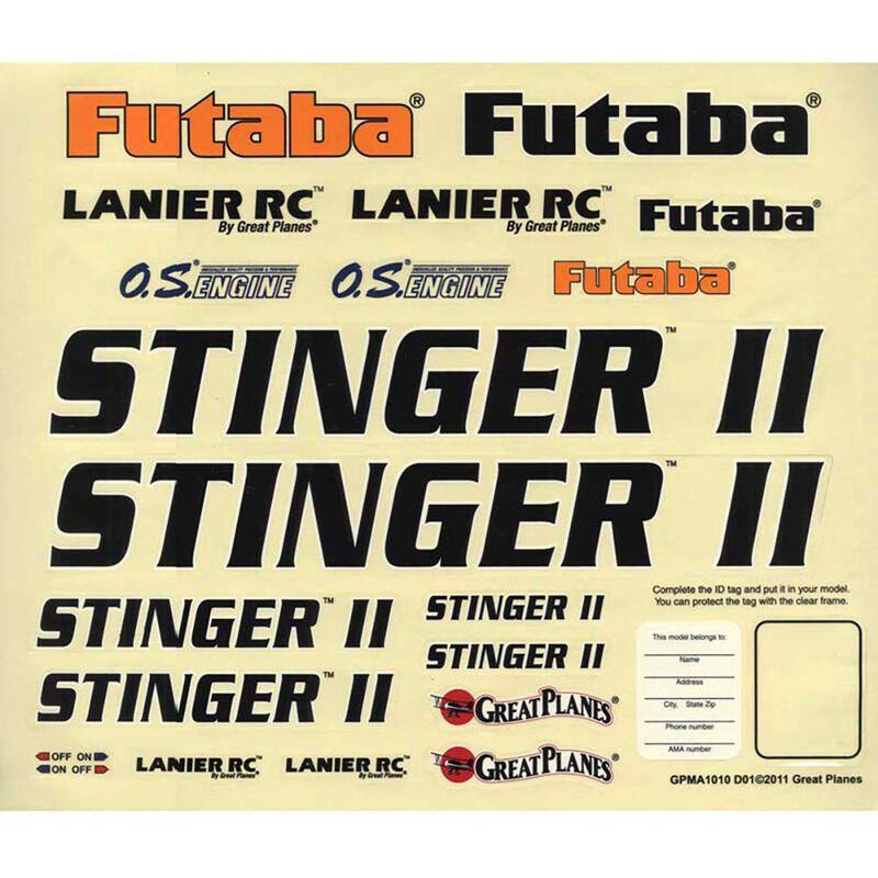 Decals Stinger II 46 ARF
