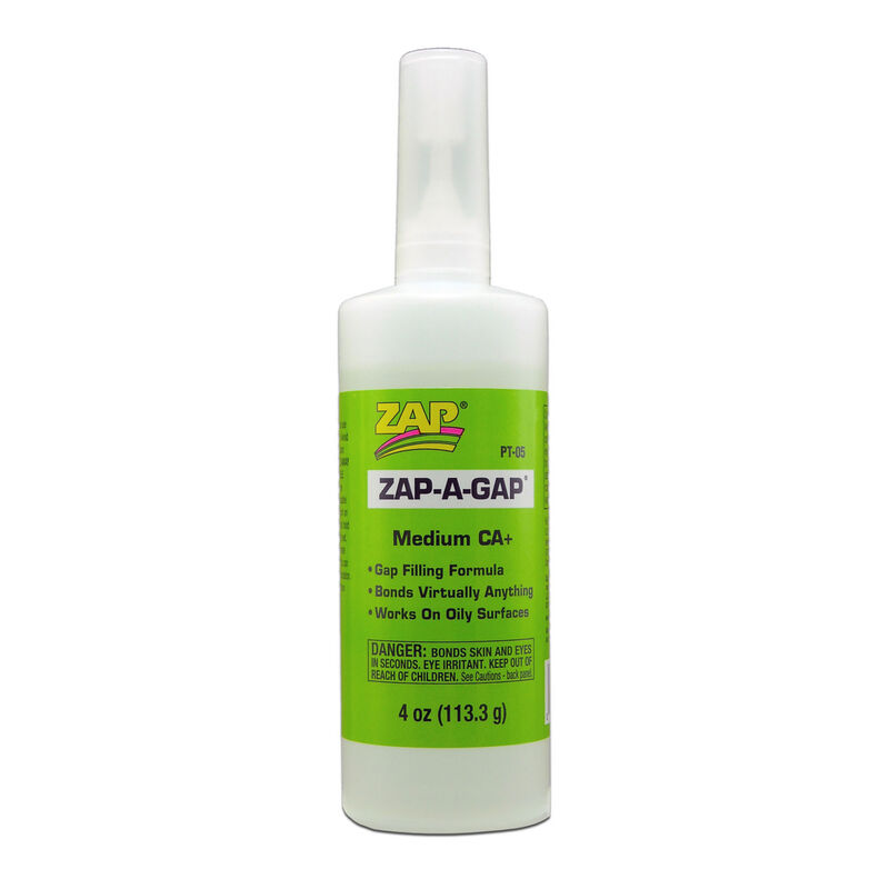Zap-A-Gap Medium CA+ Glue (1), 4 oz