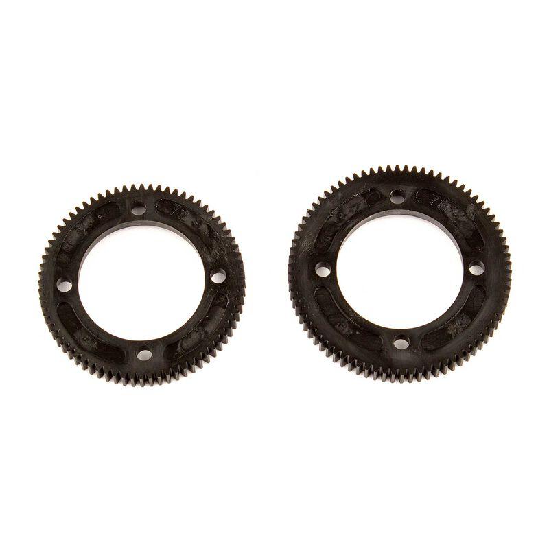 Center Diff Spur Gear 72/78 Tooth: RC10B74