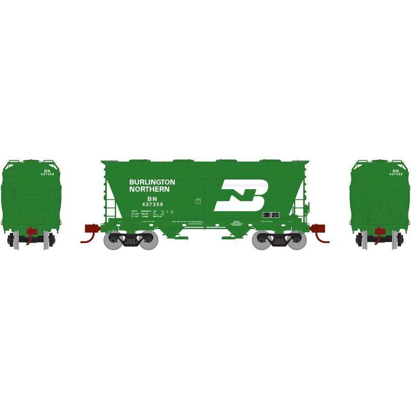 HO RTR ACF 2970 Covered Hopper BN Green #437359