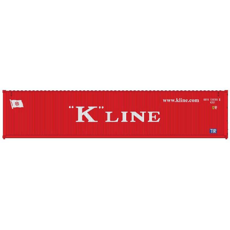 HO 40' Standard Container K-Line.com Set #1