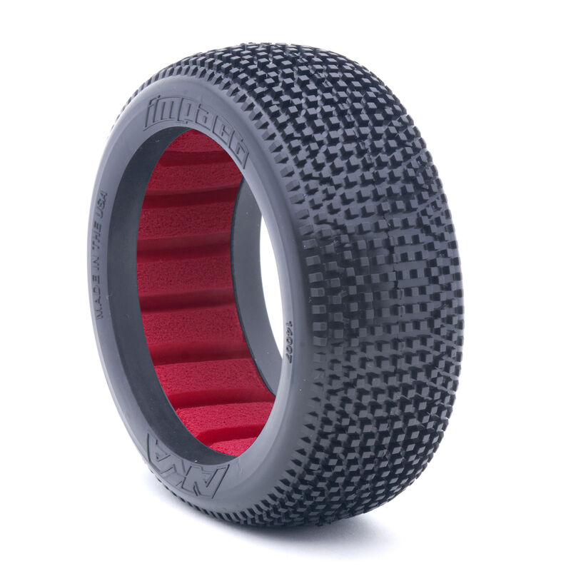 1/8 Impact Super Soft Front/Rear Tire with Red Insert: Buggy (2)