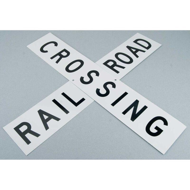 """24"""" Die-Cut Metal Sign, RR Crossbuck"""