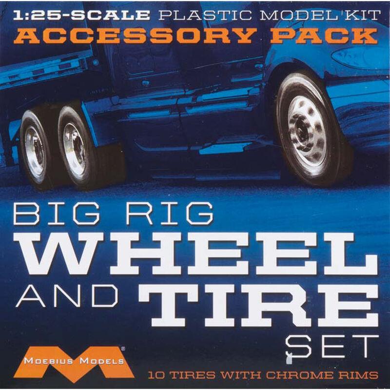 1/25 Semi Wheels/Tires (10 pk)