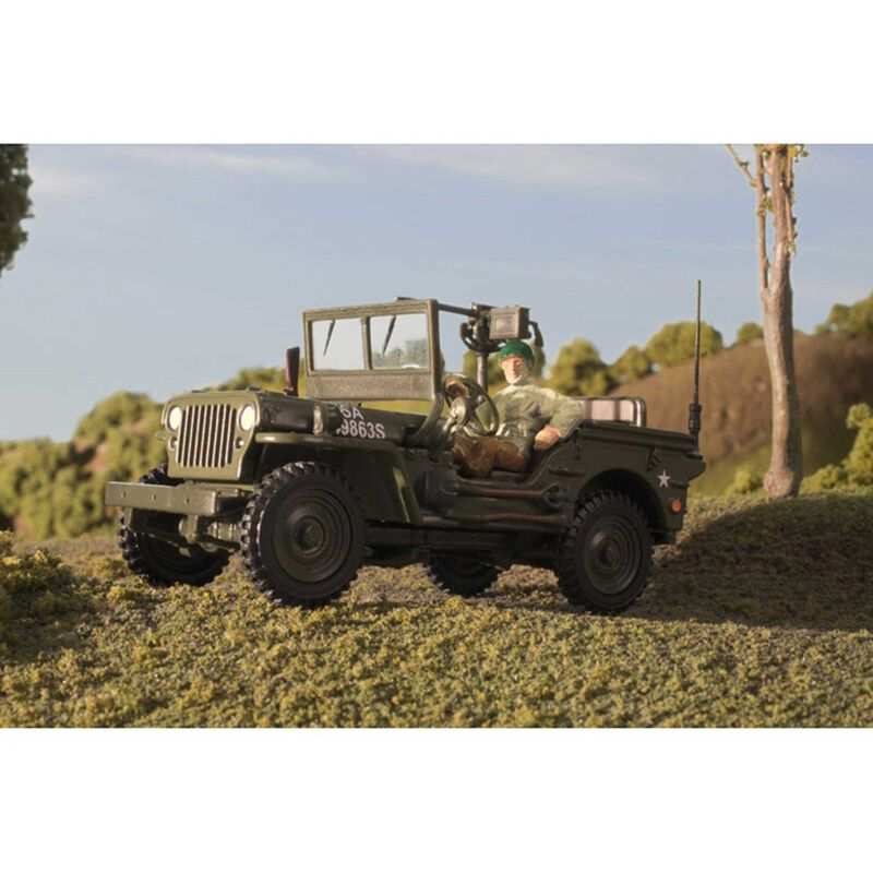 1/48th Scale 1/4 Ton Military Jeep