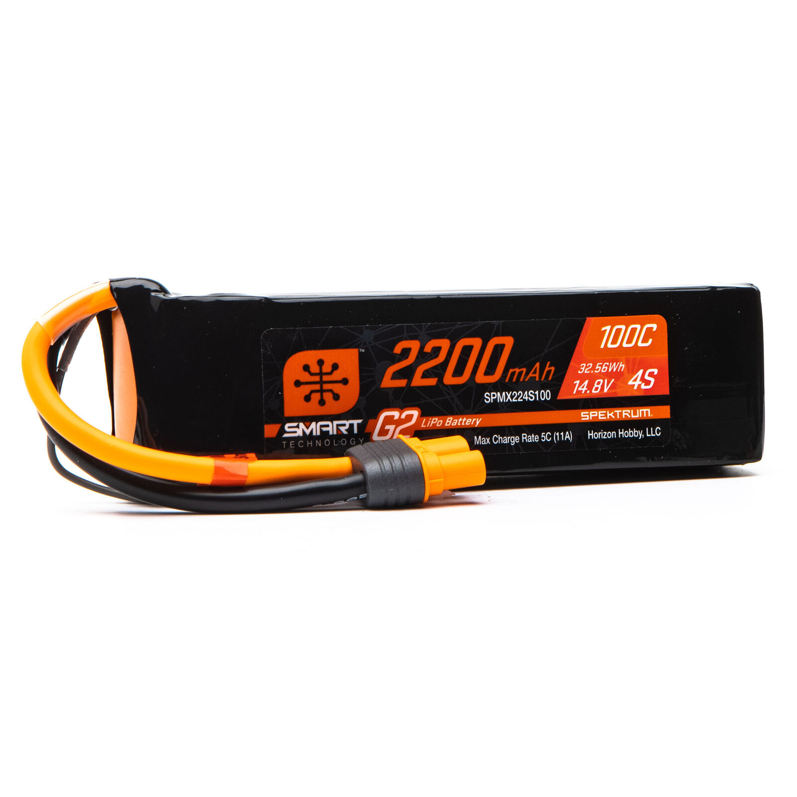 14.8V 2200mAh 4S 100C Smart G2 LiPo Battery: IC3