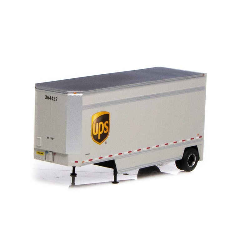 HO RTR 28' Drop Sill Trailer UPS with Shield #364422