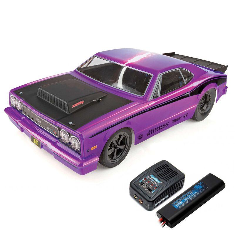 1/10 DR10 2WD Drag Race Car Brushless RTR, Purple, LiPo Combo