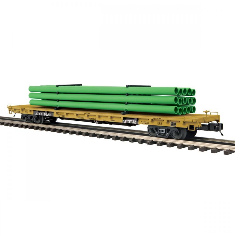 O 60' Flat Car with Pipe Load TTX #93322