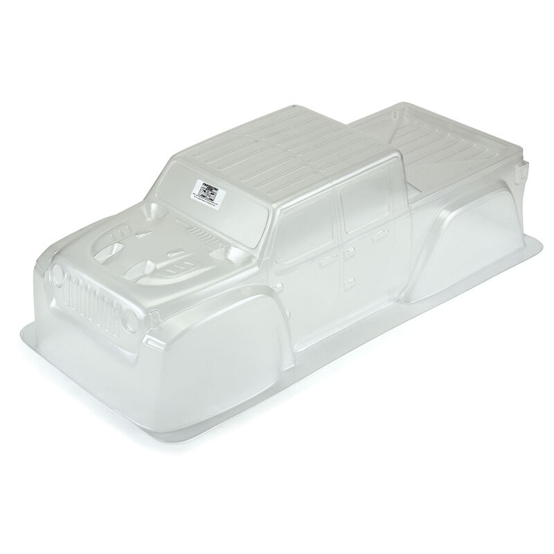 Clear Body, 1/6 Precut Jeep Gladiator Rubicon: 1/6 X-MAXX