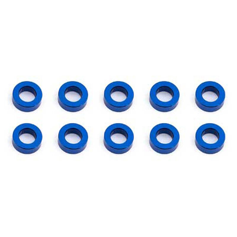 Ballstud Washers, 5.5x2mm, Blue Aluminum (10)