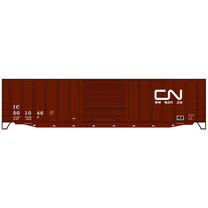 HO KIT 50' Exterior Post Steel Box CN IC