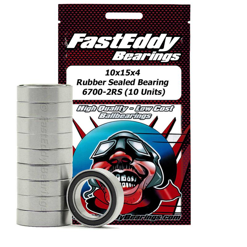 10x15x4 Rubber Sealed Bearing, 6700-2RS (10)