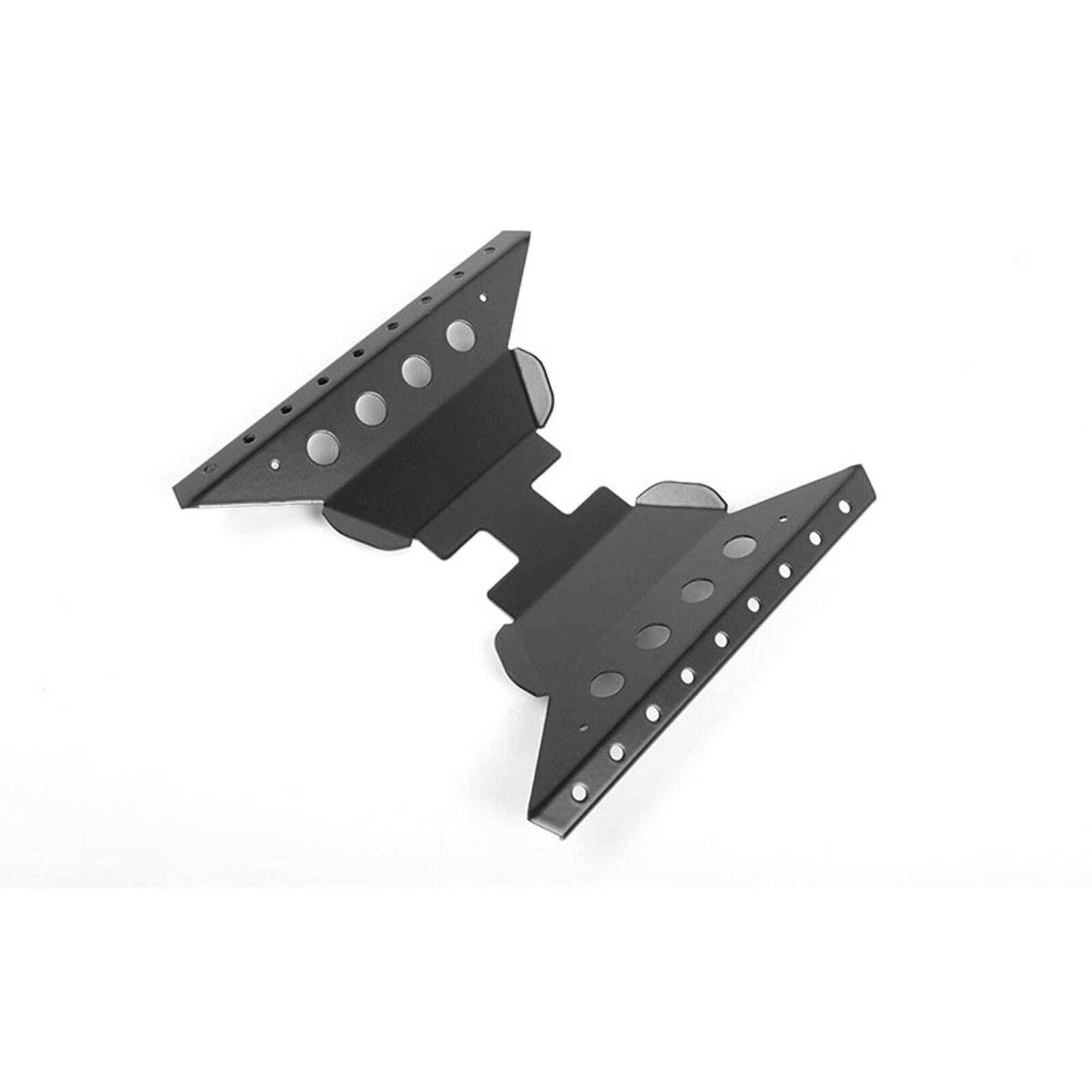 Oxer Transfer Case Guard-Axial Capra 1.9 Black