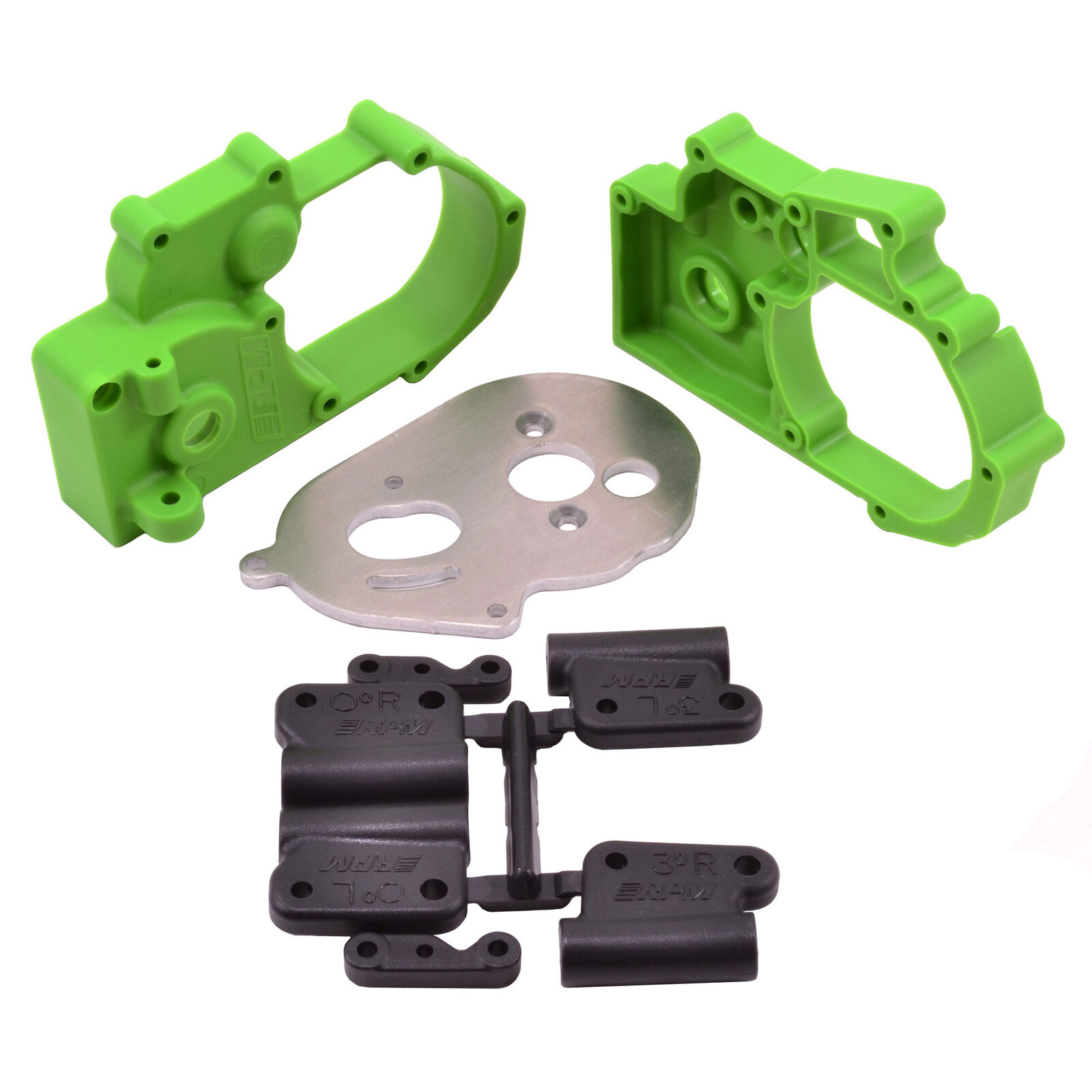 Gearbox Housing and Rear Mounts, Green: TRA 2WD Vehicles