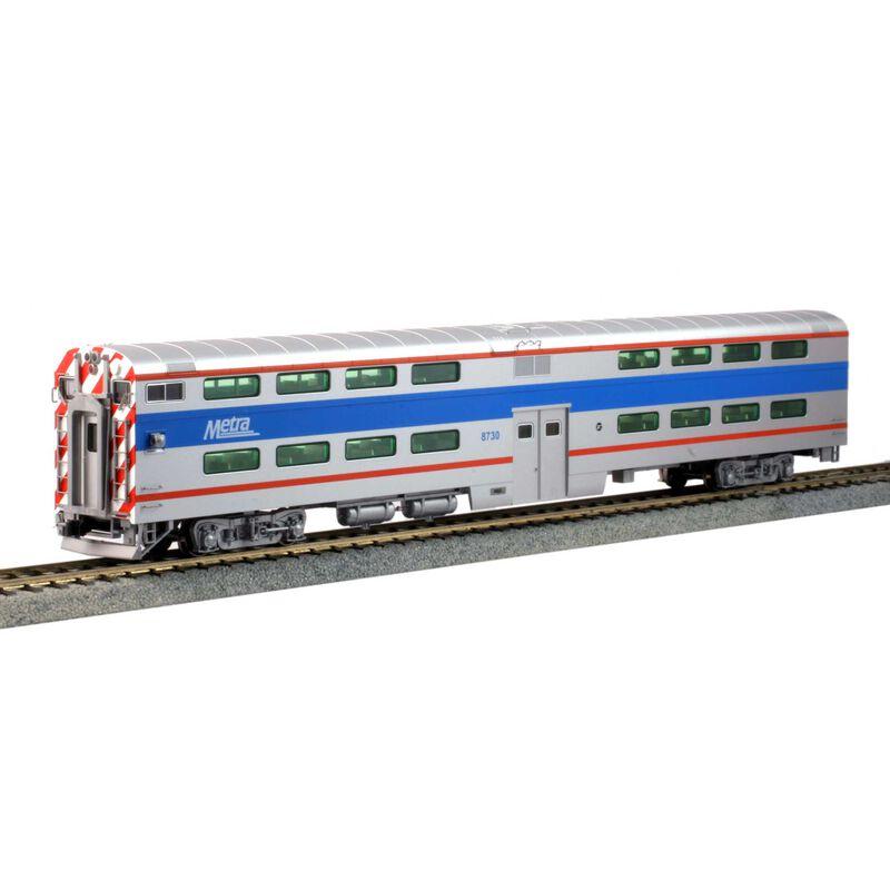 HO Pullman Bi-Level 4 Window Coach Metra #8730