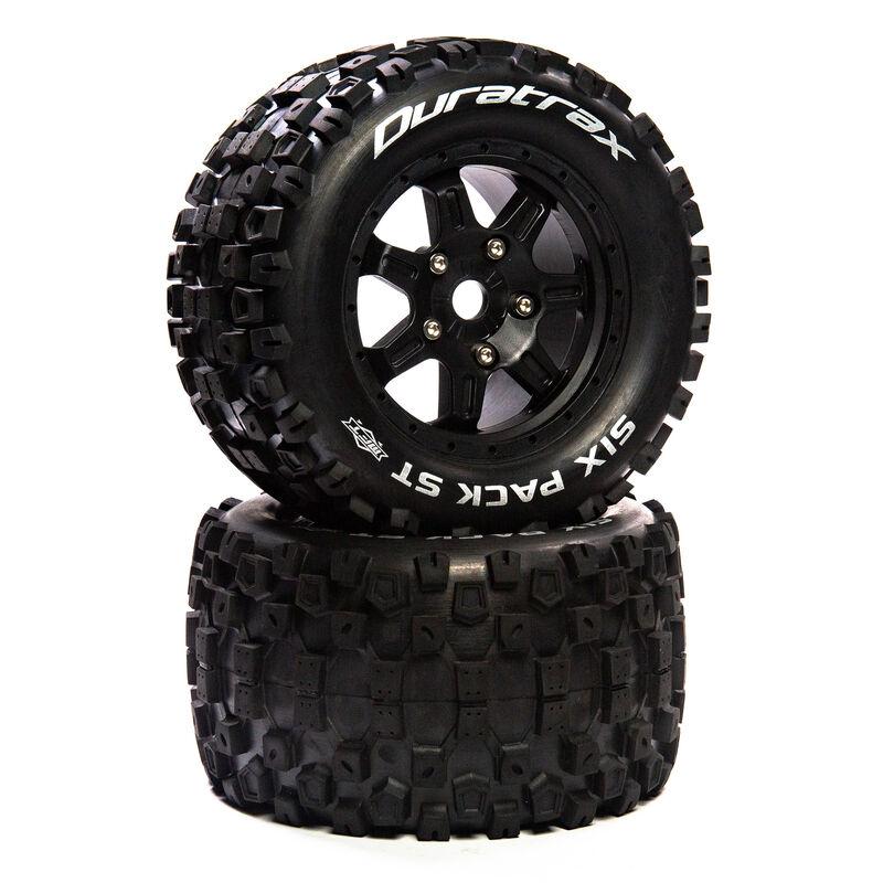 "Six Pack ST Belt 3.8"" Mounted Front/Rear Tires 0 Offset 17mm, Black (2)"