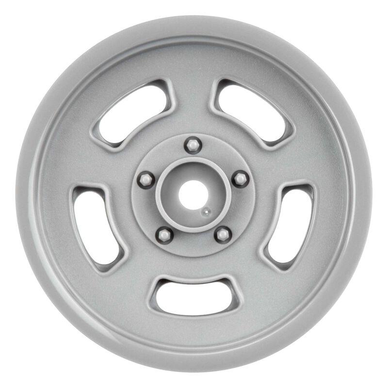 "1/10 Slot Mag Drag Spec 2.2"" Front Wheels, Stone Gray (2): Slash 2WD, DR10"