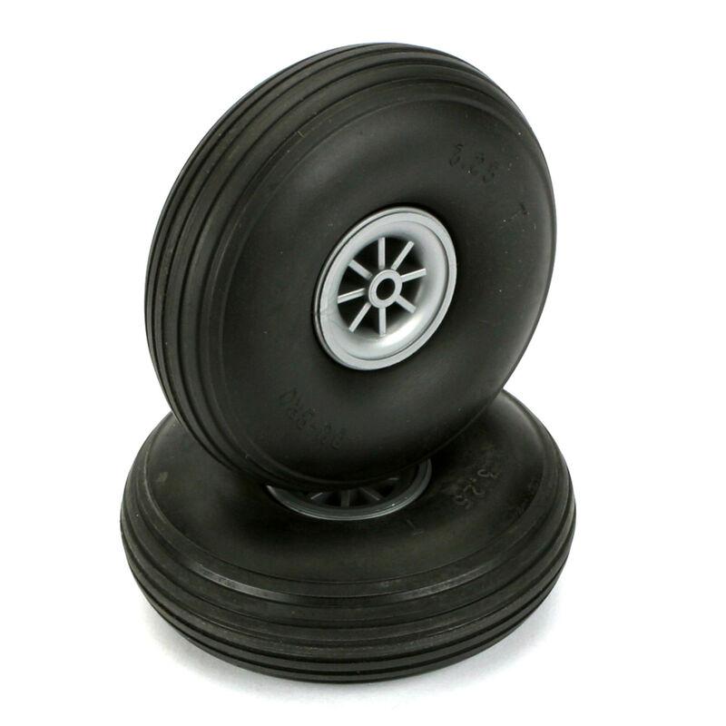 """Treaded Wheels, 3-1/4"""" (2)"""