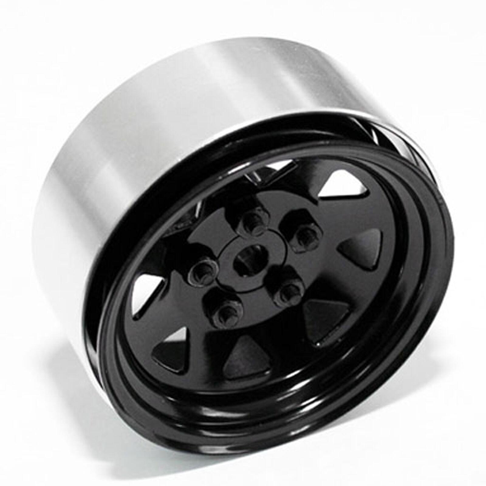 5 Lug Wagon 1.9 Stamped Beadlock Wheels, Black (2)
