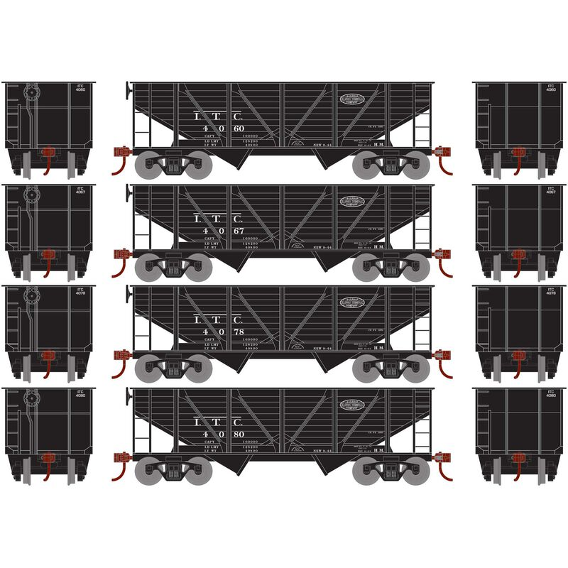 HO 34' 2-Bay Hopper with Coal Load ITC #1 (4)